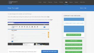 How To: Login   Parish Council Website   Community Hub