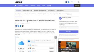 How to Set Up and Use iCloud on Windows - Laptop Mag