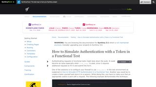 How to Simulate Authentication with a Token in a Functional ... - Symfony