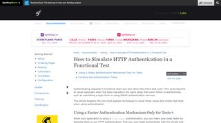 How to Simulate HTTP Authentication in a Functional Test (Symfony ...