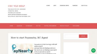 How to start Paynearby, BC Agent ~ CSC VLE HELP