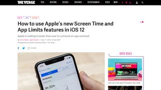 How to use Apple's new Screen Time and App Limits features in iOS ...