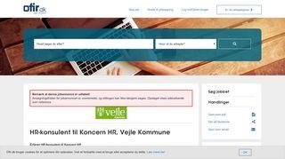 HR-konsulent til Koncern HR, Vejle Kommune, Koncern HR   Ofir.dk