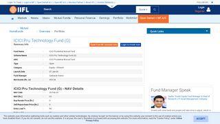ICICI Pru Technology Fund (G) - ICICI Prudential Mutual Fund -Nav ...