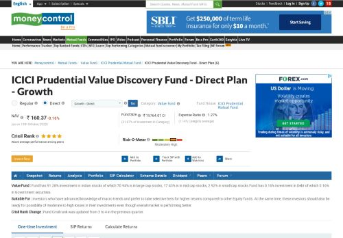 ICICI Prudential Value Discovery Fund - Direct Plan (G) [143.290 ...
