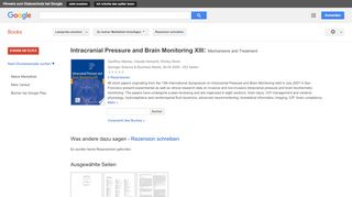Intracranial Pressure and Brain Monitoring XIII: Mechanisms and ...