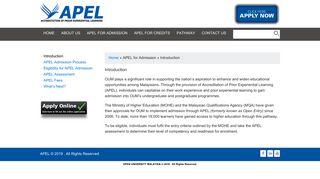 Introduction   APEL - OUM