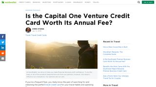 Is the Capital One Venture Credit Card Worth Its Annual ...