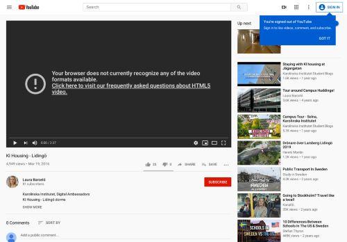KI Housing - Lidingö - YouTube