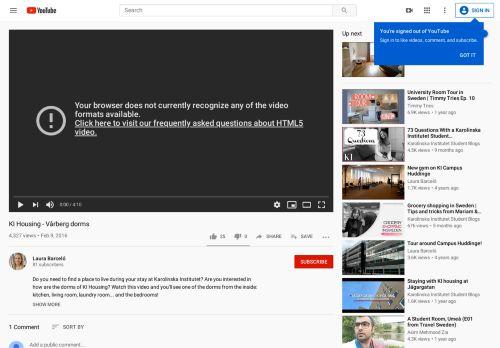 KI Housing - Vårberg dorms - YouTube