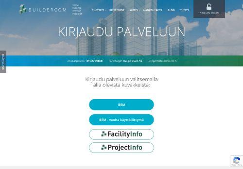 Kirjautuminen   BEM - ProjectInfo - FacilityInfo   buildercom.fi