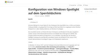 Konfiguration von Windows-Blickpunkt auf dem Sperrbildschirm ...