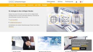Kontakt z firmą Schachermayer - Schachermayer Polska