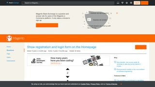 layout - Show registration and login form on the Homepage ...