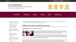 LCMS Sweeps Awards at DAR Essay Contest - Los Fresnos ...