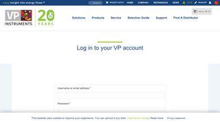Log in | VPInstruments