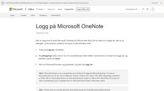 Logg på Microsoft OneNote - OneNote for iOS - Office Support