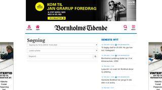 Login » Bornholms Tidende