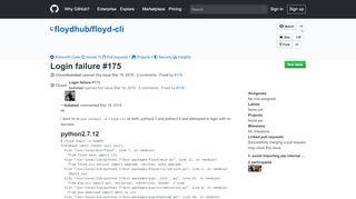 Login failure · Issue #175 · floydhub/floyd-cli · GitHub