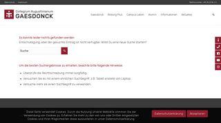 Login-Homepage - Gaesdonck