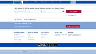 Login Homepage - PAYBACK.at