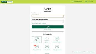Login Kundenmenü | DomainFactory