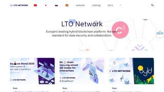 Login | LTO Network - Hybrid Blockchain for Decentralized Workflows