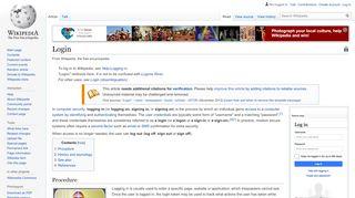 Login - Wikipedia