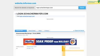 login.schachermayer.com at WI. Schachermayer/Rechberger - Portal ...