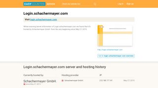Login.schachermayer.com server and hosting history