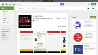 mAadhaar - Google Play पर ऐप्लिकेशन