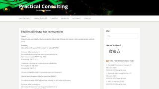 Mail inställningar hos leverantörer   Practical Consulting