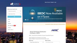 Make Payment for Abuja Electricity PHCN Bill online - AEDC Abuja ...