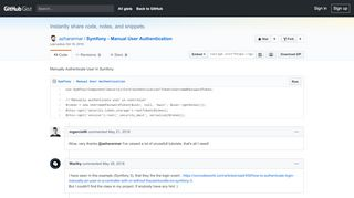 Manually Authenticate User In Symfony · GitHub