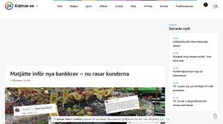 Matjätte inför nya bankkrav – nu rasar kunderna - Nyheter i Kalmar ...