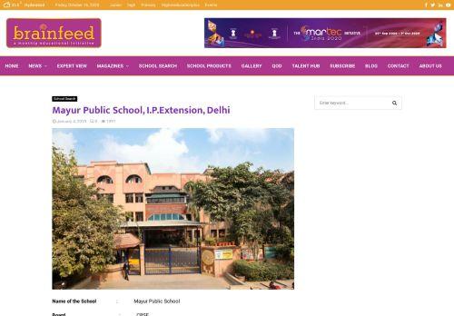 Mayur Public School, I.P.Extension, Delhi | School Search