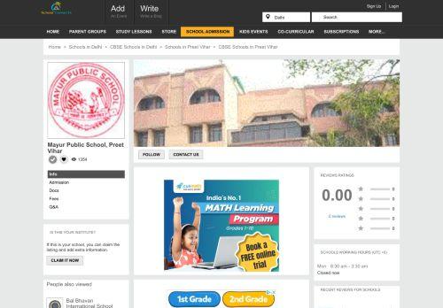 Mayur Public School, Preet Vihar,Delhi-110092 | CBSE School |