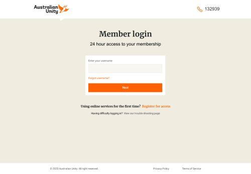 Member Login - Australian Unity