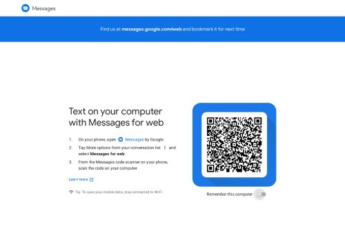 Messages for web