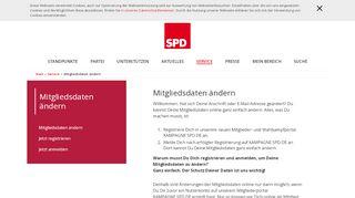 Mitgliedsdaten ändern - SPD