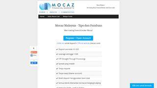 Mocaz Malaysia - Tips dan Panduan