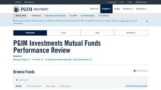 Mutual Fund Performance | PGIM Investments