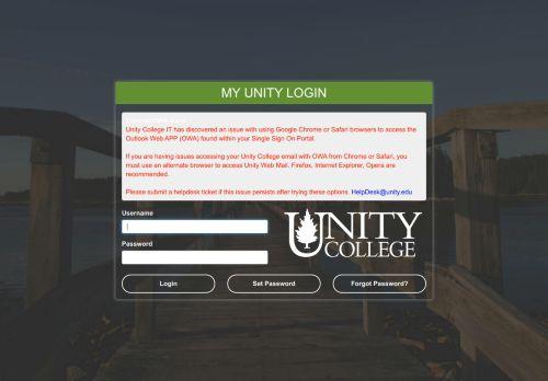 My Unity SSO Portal