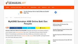 MyASNB Semakan ASB Online Baki Dan Penyata - Semakan.my