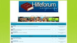 MyBlog Hilfeforum