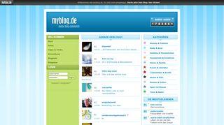 myblog.de - Einfach und kostenlos eigenen Blog erstellen