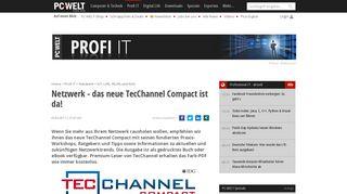 Netzwerk - das neue TecChannel Compact ist da! - PC-WELT