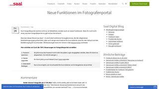 Neue Funktionen im Fotografenportal - Saal Digital
