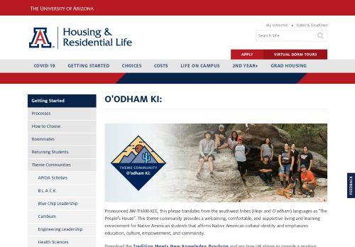 O'odham Ki: | Housing & Residential Life