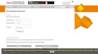 OpenStorage AG - Persönlicher Bereich - Login